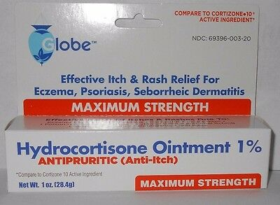 Hydrocortisone Ointment 1% Maximum Strength Anti-Itch 1oz Tube -Ex  Date  05-2021