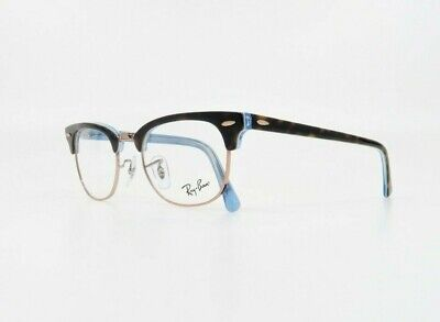 Ray-Ban Unisex Clubmaster Tortoise/Light Blue Glasses w/ Case RB 5154 5885 (Non Prescription Ray Bans)