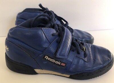 37d1c5f8d17 REEBOK CLASSIC VINTAGE RETRO Sneakers Hi-Tops Men s Size 6 Royal Blue EUR 38