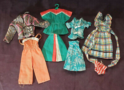 Barbie Clothes Accessories, Lot of 9 1970's, 4 Outfits and Panties