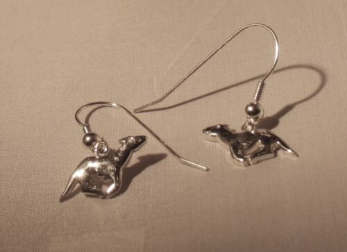 GreyhoundSighthound 4 g Sterling Ear Rings