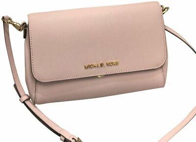 Michael Kors Jet Set Convertible Pouchette Clutch Crossbody Bag Blossom Pink 298