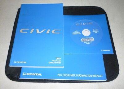 2017 HONDA CIVIC SEDAN OWNERS MANUAL SET GUIDE 17 CD +CASE LX EX EX-L