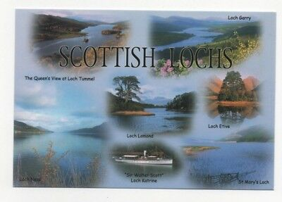 Scottish Lochs : Etive, Lomond, Katrine, Ness, Garry, Tummel, St. Mary's