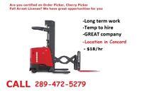 Cherry Picker Operator