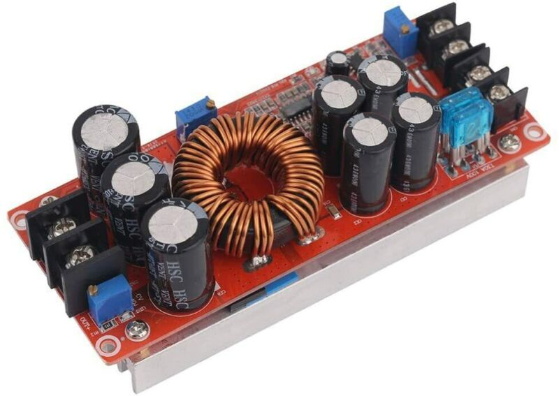 Step Up Power supply module. 1200W 20A DC-DC Boost Converter.