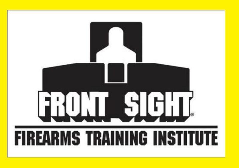 Front Sight 2-Day Handgun/Shotgun/Rifle Training Course Certificate - FREE SHIP