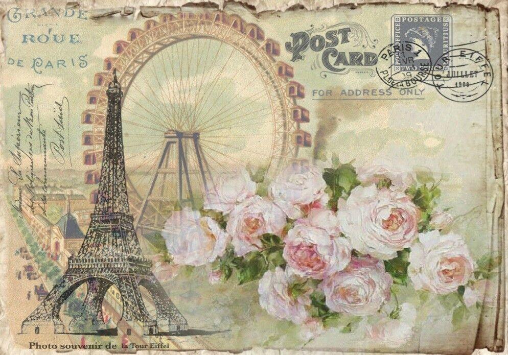 Decoupage-Serviettentechnik-Softpapier-Vintage-Nostalgie-French-Paris-12090