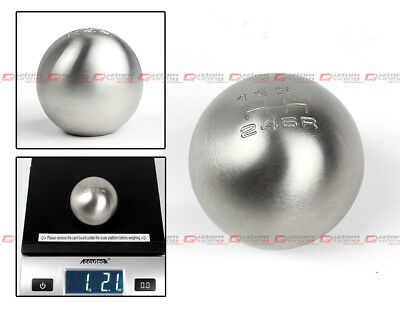 M10 X 1.25 WEIGHTED ROUND STAINLESS STEEL 6 SPEED SHIFT GEAR KNOB FOR (Nissan Gear)