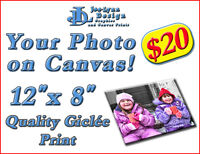Giclée Canvas Prints! Your Photo - Just $20 - Amazing Quality!