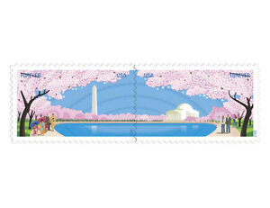 USPS-New-Cherry-Blossom-Centennial-Forever-Self-Adhesive-Stamps