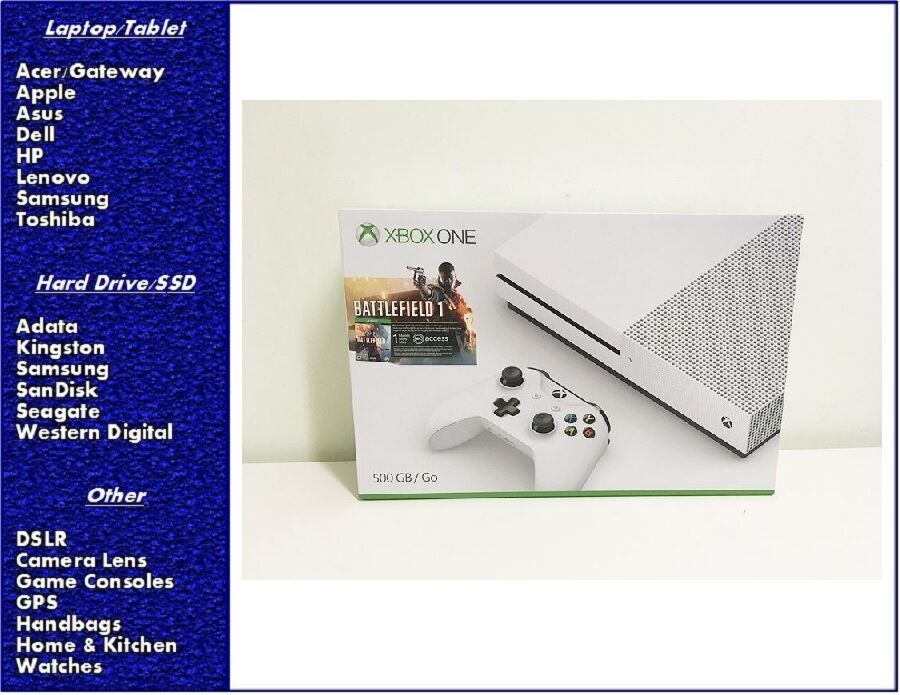 $245.00 - Xbox One S 500GB Console  Battlefield 1 Bundle, New & Sealed
