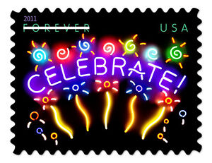 USPS-New-Neon-Celebrate-Forever-Self-Adhesive-Stamp-Sheet-of-20