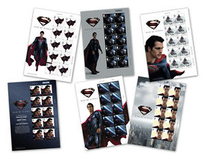 New-Jersey-Post-Man-of-Steel-Stamps-6-Mint-Sheet-Selvages