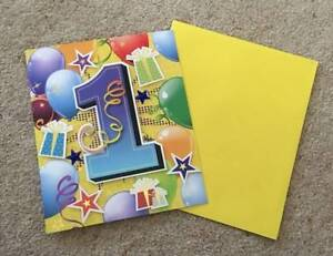 Large 1st Birthday Card