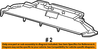 FORD OEM Radiator Core Support-Air Baffle Duct Deflector 4C3Z8327AA Air Baffle Duct