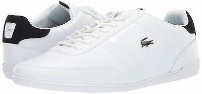 Men's Shoes Lacoste GIRON 119 Leather Fashion Sneakers 37CMA0081147 WHITE (Lacoste White Shoes)