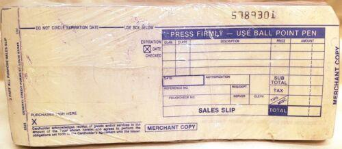 Vintage Credit Card Sales Slips Sealed Pack 50