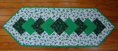 Handmade Quilted Table Runner - Shamrocks - St. Patrick's Day