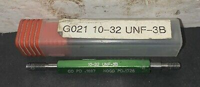 Greenfield Thread Plug Gauge 10-32 Unf-3b Used Machinist Tap Milling