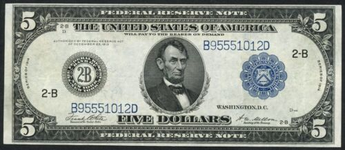 Fr851c $5 1914 Series Frn -- New York -- Xf+ -- Bt4513
