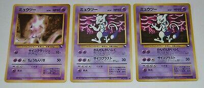1998 Japanese Pokemon Vending Series Lot of 3 MEWTWO Cards