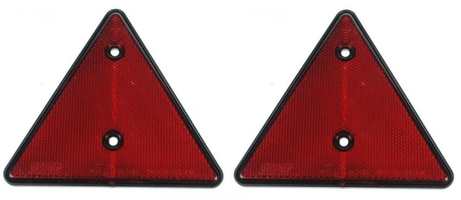 Screw Mount 2x Red Rectangular Reflectors 94mm x 44mm Gates Caravan Trailer