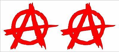 Anarchy Symbol Vinyl Decals Car Window Laptop 3  Stickers Set Of 2
