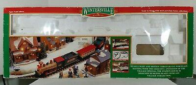 JUST BOX - Wintersville Express Train Set New Bright No.174 Holiday Christmas