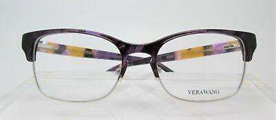 Vera Wang V383 Amethyst Eyeglass Optical Frames Glasses Womens Authentic New