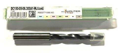 Walter-Titex 6.3mm Solid Carbide Drill Coolant Thru WJ30RE Coating 140° 5xD