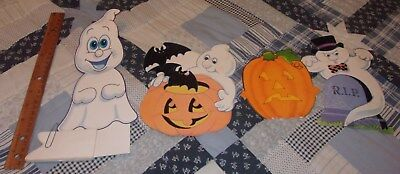 12 vintage Halloween Die-Cut decorations display scarecrow ghost horror witch](Horror Halloween Decorations)