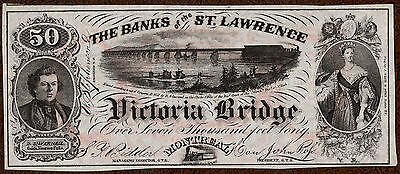 Montreal  Pq   Banks Of The St  Lawrence  Grand Trunk Railway  1860S Ad Note Cu