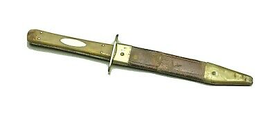 Vintage 1800'Manson Sheffield England Bowie Dagger Knife Original Sheath Antique