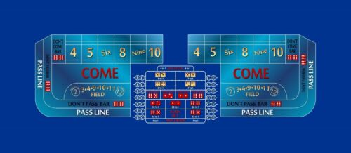 Craps layout 10 foot choice of 2 colors