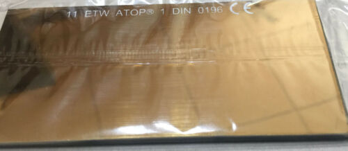 Filter Welding Glass Mirroring Gold Coloured 4 1/4x2.01x0 1/8in T.11 Screen