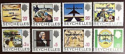 Seychelles 1976 Independence Overprint Set To 15r MNH