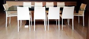 White Leather Dining Chairs from Milano Furniture Darling Point Eastern Suburbs Preview