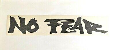 NO FEAR Black Logo Sticker Decal Autocollant vintage - NOS - BMX, Motocross