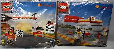 LEGO Bundle SHELL V-POWER 40195 & 40194 SHELL STATION / Ferrari Finish Line
