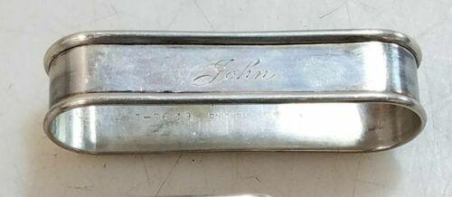 """Vintage Gorham Sterling Silver Napkin Ring """"John"""" name engraving"""
