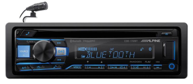 ALPINE CDE-172BT In-Dash Bluetooth CD Receiver Car Stereo USB/AUX SiriusXM Ready