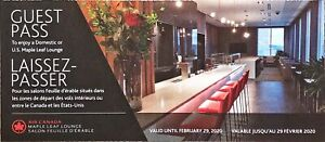 Maple Leaf Lounge Voucher (DOMESTIC ONLY)