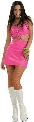 Molly-Go-Brightly Go-Go 60's Hippie Disco Pink Dress Up Adult Halloween - Pink Hippie Costume