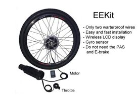 Front Wheel E-bike Conversion Kit With only two waterproof cables