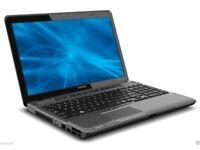 "TOSHIBA P750 LAPTOP CORE i7 2ND GEN WEBCAM 640GB 8GB 15.6"" HDMI BLURAY NVIDIA"