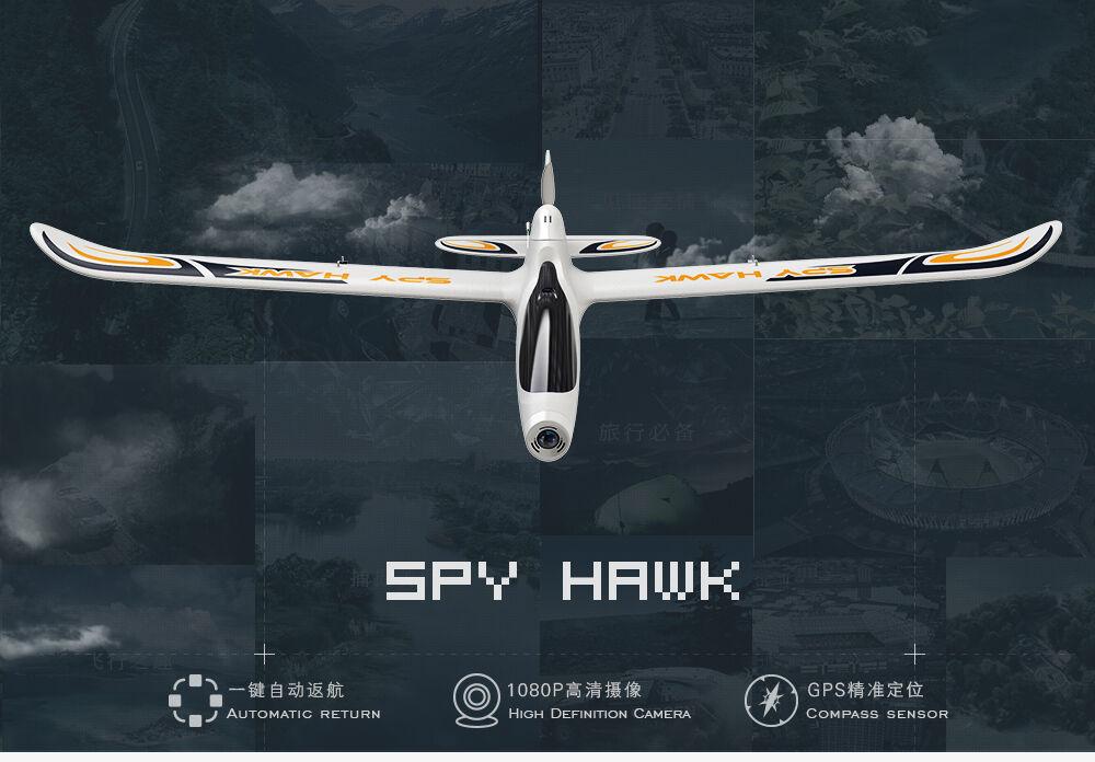 Hubsan H301S SPY HAWK 5.8G FPV 4CH RC Airplane RTF With GPS Module White