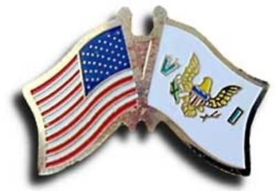 Pack of 50 USA American US Virgin Islands Friendship Flag Hat Cap lapel Pin