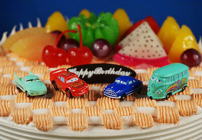 Disney Pixar Cars Fillmore Lightning McQueen Flo Tortenfiguren Kuchendekoration ()