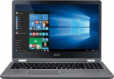 "Aspire R 15 2in1 15.6"" Touchscreen Laptop (i5-7200U, 8GB , 1TB, Win 10, Gray)"